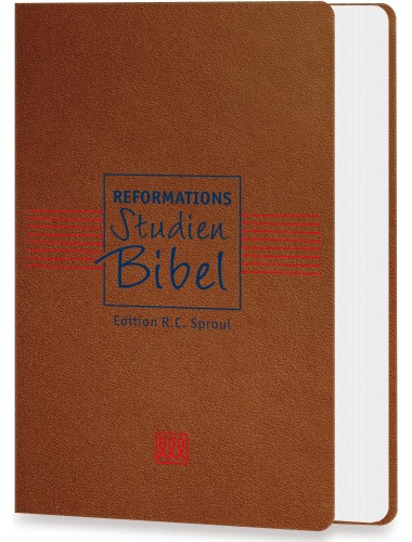 Reformations-Studien-Bibel Cabra Leder Cognac