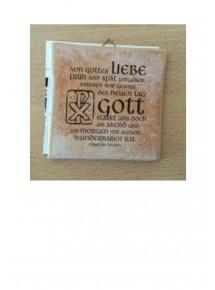 """Kachel """"Von Gottes Liebe …""""..."""