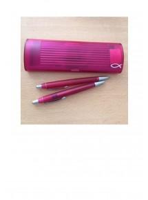 Schreibetui mit zwei Stiften